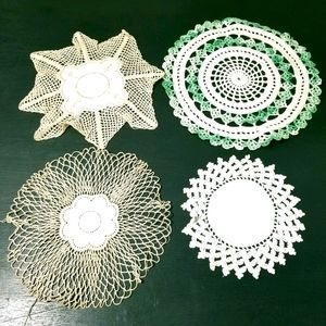 Antique Hand Crocheted Doilies